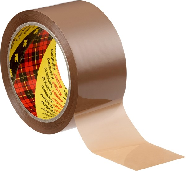 Picture of Scotch® 305 Verpackungsklebeband leise abrollend / transparent, braun